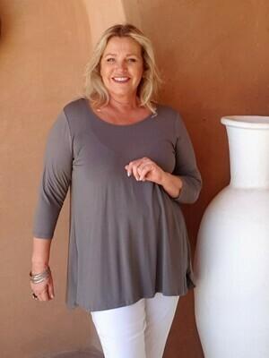 Tessina - Pebble - Jersey T-Shirt 3/4 sleeve