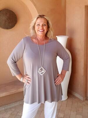 Tessina - Stone - Jersey T-Shirt 3/4 Sleeve