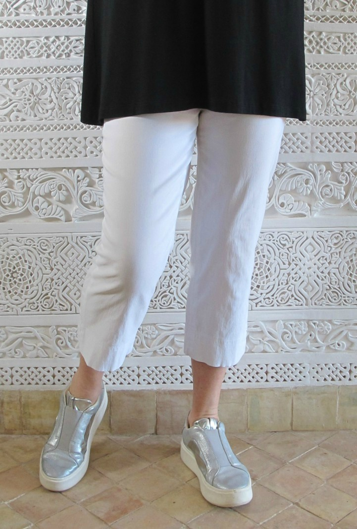 Robell Marie Capri Crop Trousers white