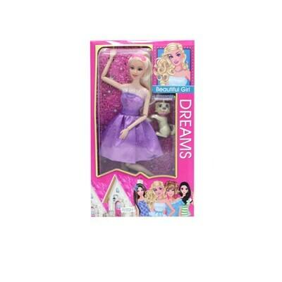 Кукла принцесса с собачкой на шарнирах 100901165