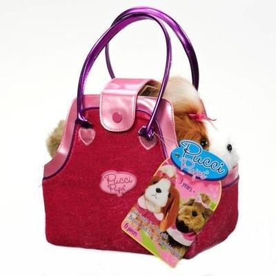 Щенки Ши-Тцу и Йоркшийрский терьер с сумочкой и аксессуарами, 6 предметов  Pucci Pups. ВАТTАТ ST8156H