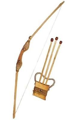 Лук деревянный 75см, чехол для стрел и три стрелы ТМ ДереВО 171873