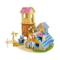 "Деревянный 3D пазл ""Knowledge House"" 40 деталей ROBOTIME F111 F111"