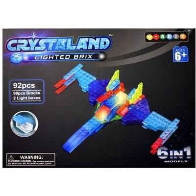 Светящийся конструктор САМОЛЕТ 6 в 1, 90 дет. Crystaland 99018