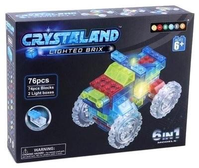 Светящийся конструктор КРОССОВЕР 6 в 1, 76 дет. Crystaland 99004