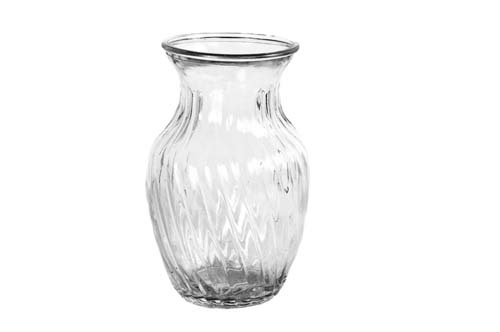 """GP4001CLR - 8"""" Tall Swirl Vase with 4"""" Opening $2.15 each 