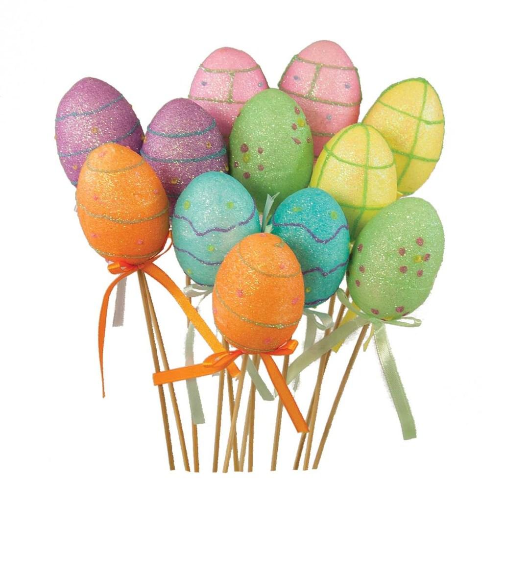 "PL2007 - Assorted Color  Easter Egg On An 18"" Pick ""Dozen"" 8.95 a dozen PL2007"