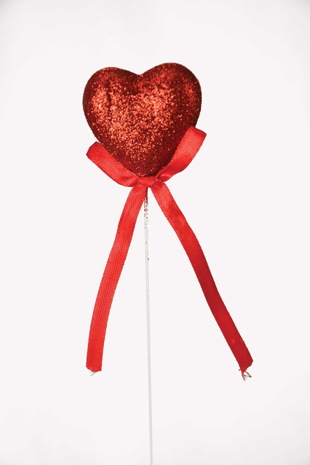 "PL2001RED - 8"" Pick With Red Heart $3.35 a Dozen PL2001RED"