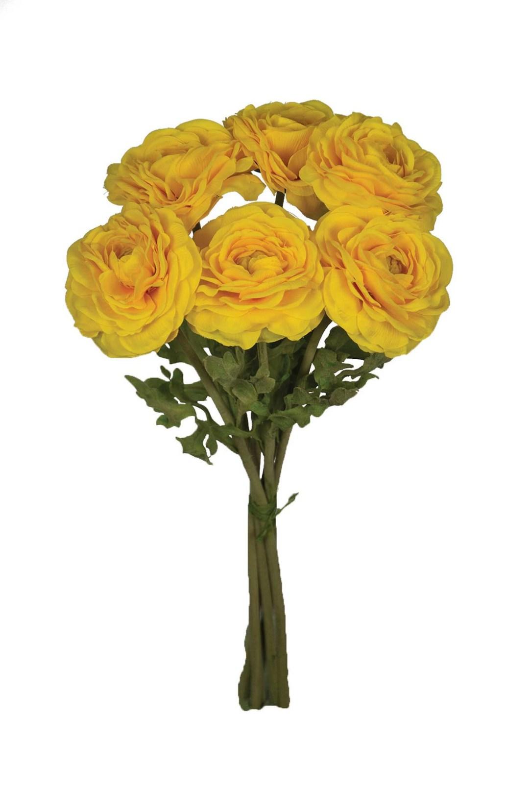 "SB2047YELL - 19"" Ranunculus Bundle X6 $10.50 each SB2047YELL"