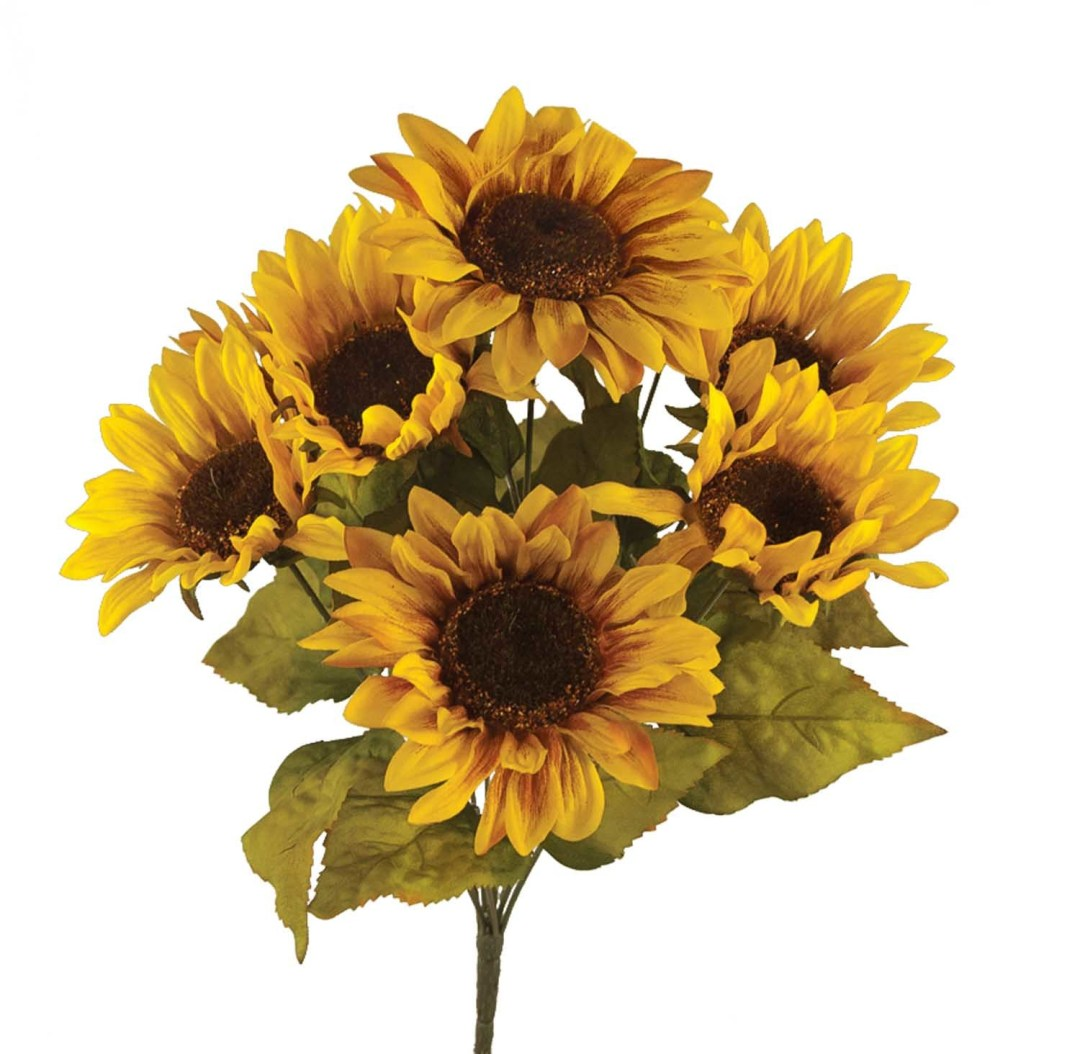 "SB1010 - 19"" Natural Sunflower Bush x9 $6.00 each SB1010"