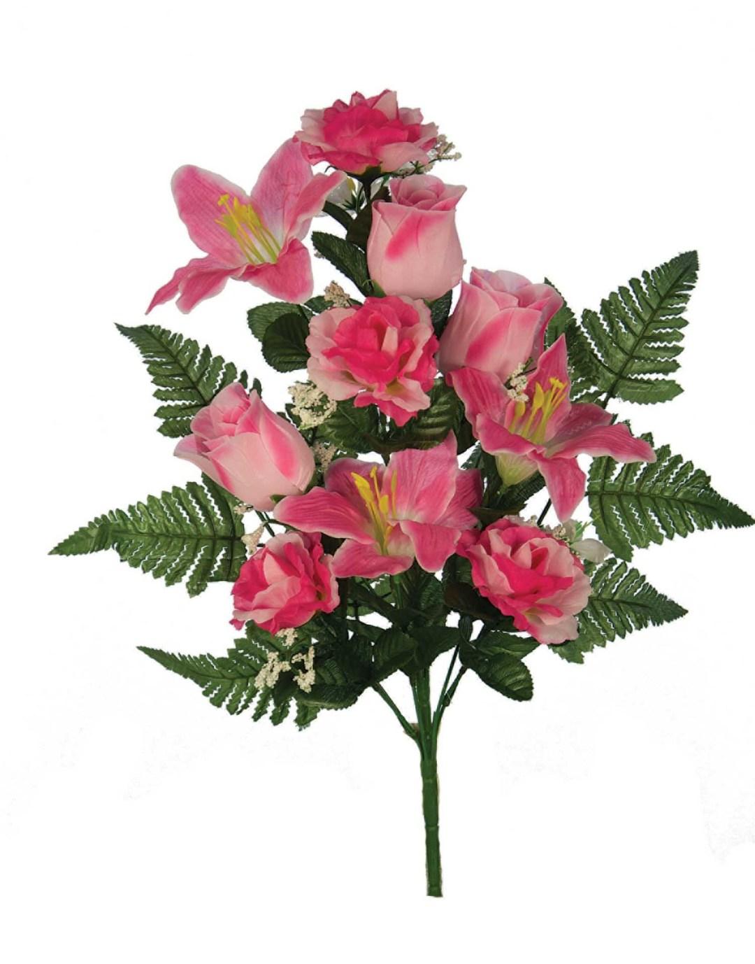 "SB3001PNK - 18"" One Sided Lily / Rose Mix x12 $3.95 each SB3001PNK"
