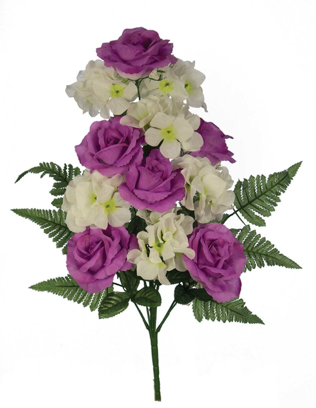 "SB3005LAV - 18"" One Sided Open Rose / Hydrangea Mix x12 $3.95 each SB3005BLU"