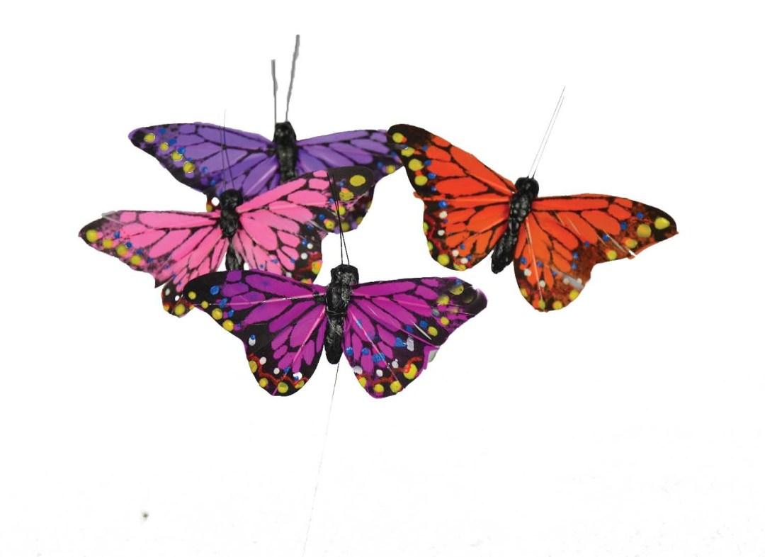"""DP1008ASST - Assorted Small 3"""" Butterfly On Wire """"dozen"""" DP1008ASST"""