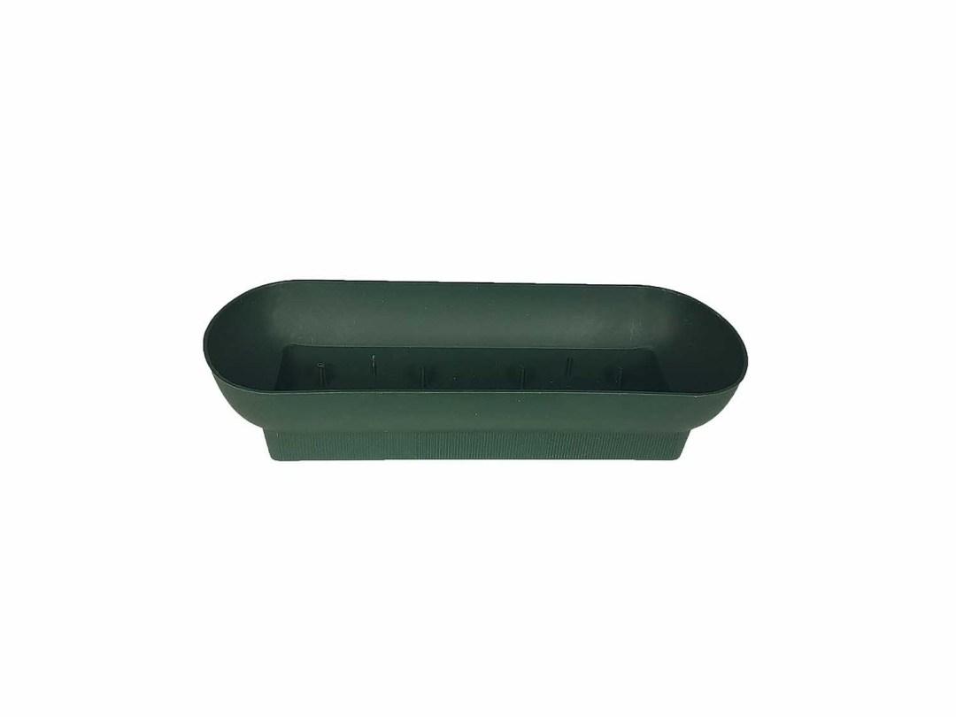 "PL302G - 10"" Green Oblong Plastic Dish $37.50 (box of 48) PL302G"
