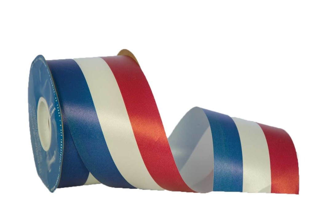 DK40RWB - #40 Unwired RWB Patriotic Ribbon 50 Yards DK40RWB