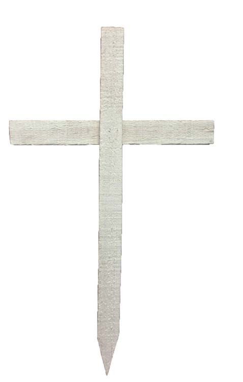 "WC-2 WHITE - 30"" Wood Cross $2.78 each WC-2 WHITE"