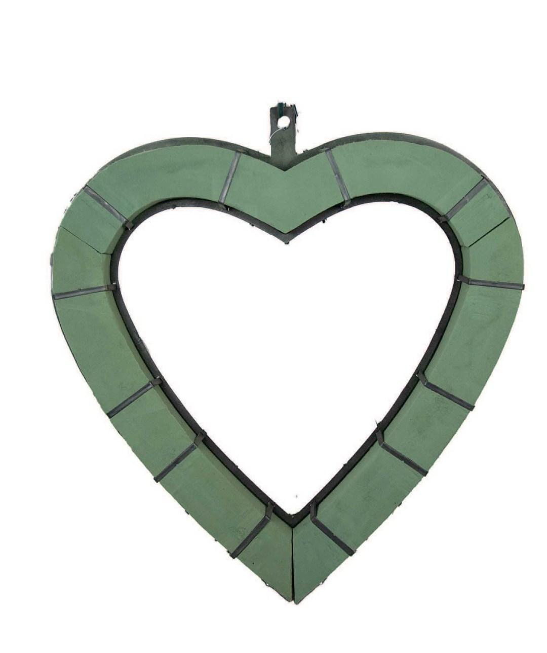 "FP318 - 19"" Plastic back heart shaped wet block heart FP318"