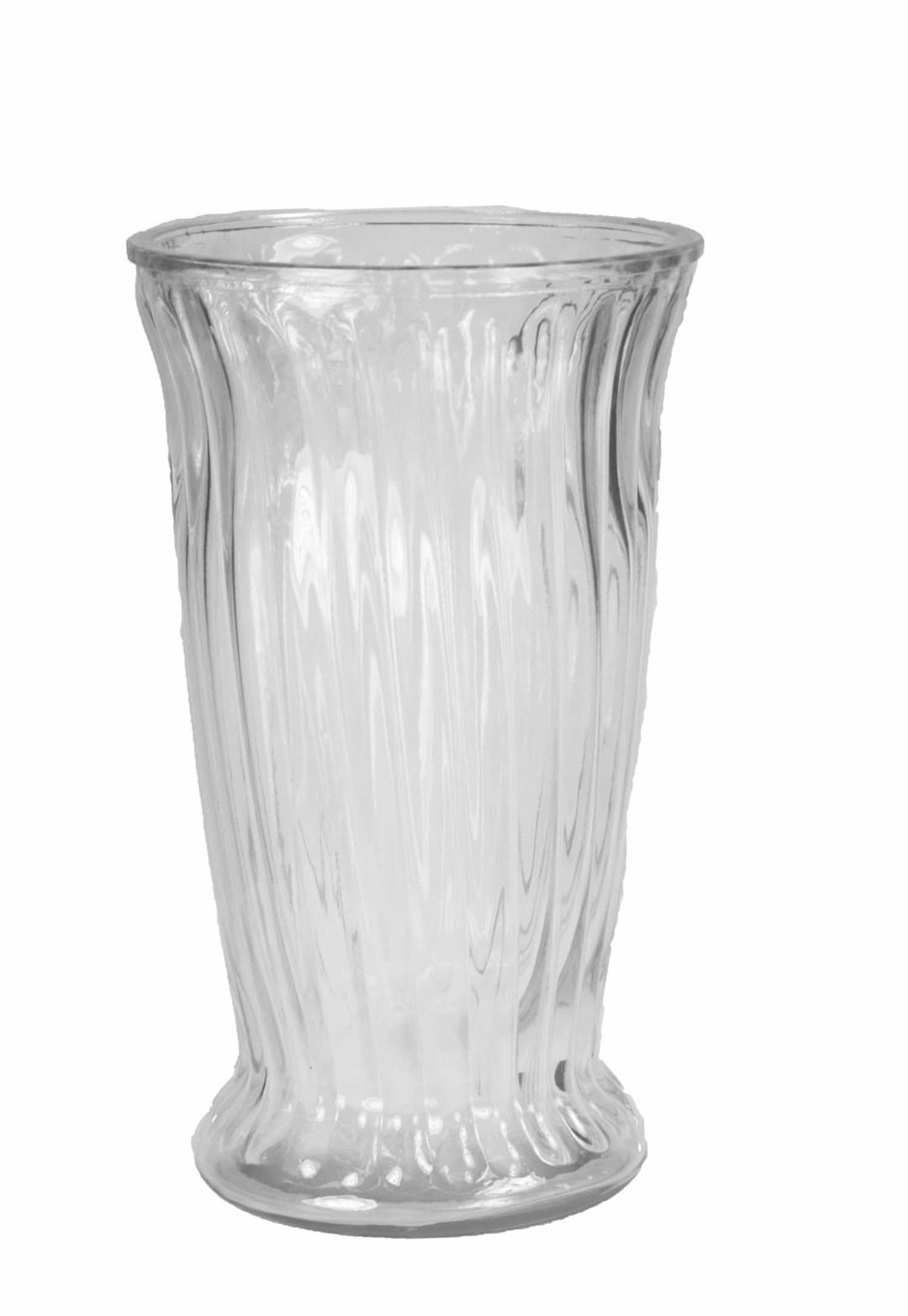 "GP4014CLR - Roman Column Vase 12"" High X 6.75"" Opening $7.95 each GP4014CLR"