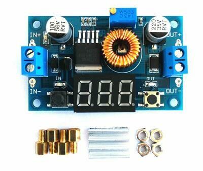 Modul coborator tensiune XL4015, 5-36VDC, 5A, 75W, cu display