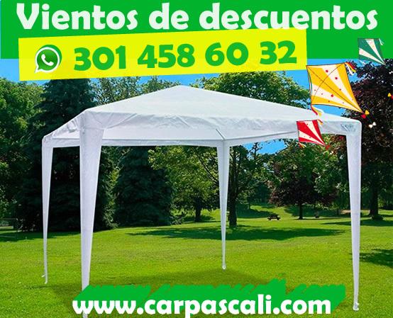CARPA TOLDO PARASOL DE 3x3 POLIETILENO BLANCO