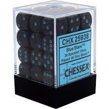 Chessex Dice CHX 25938 Speckled 12mm D6 Blue Stars Set of 36