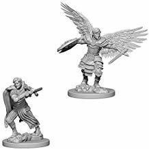 Dungeons & Dragons: Nolzur's Marvelous Unpainted Miniatures - Male Aasimar Fighters (2)