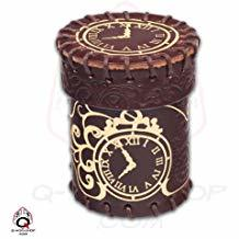 Steampunk Brown & golden Leather Dice Cup 5AG8D05Z4Z3PT