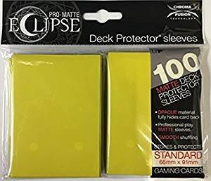 Ultra Pro Eclipse Standard Matte Sleeves Lemon Yellow