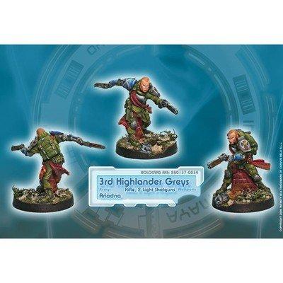 Infinity: Ariadna 3rd Highlander Rifles (Rifle, 2 Light Shotguns)