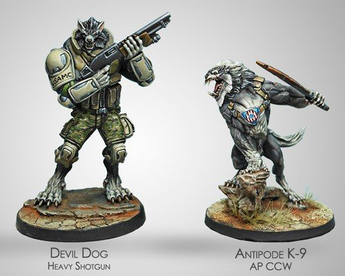 Infinity: Ariadna Devil Dogs Teams, 2nd Assault Bat. Of the USAMC