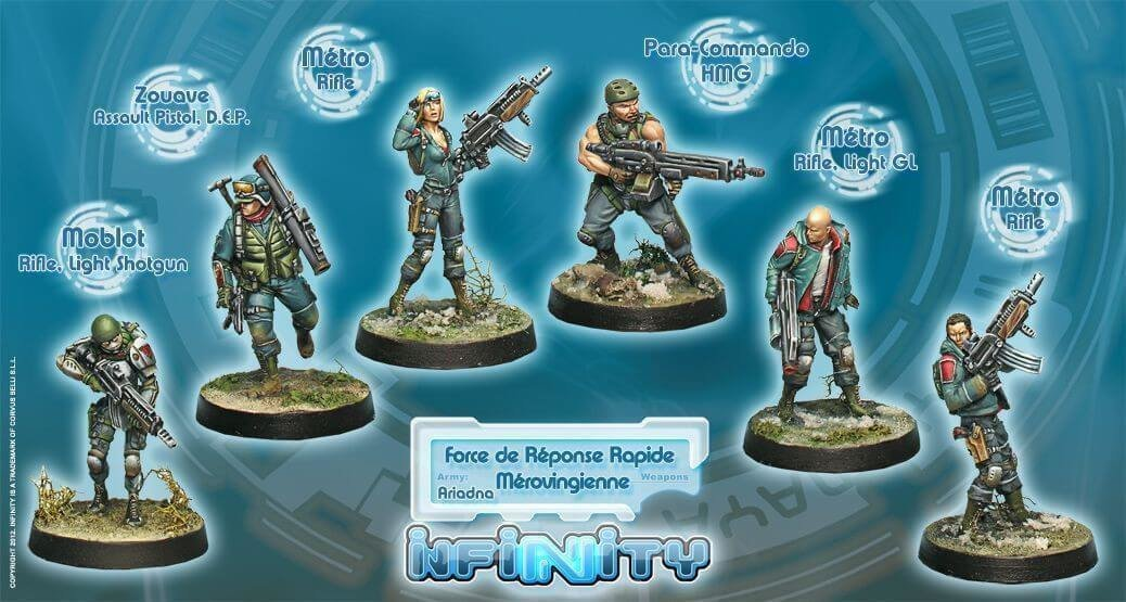 Infinity: Ariadna Force de Reponse Rapide Merovingienne (Ariadna Sectorial Starter Pack)