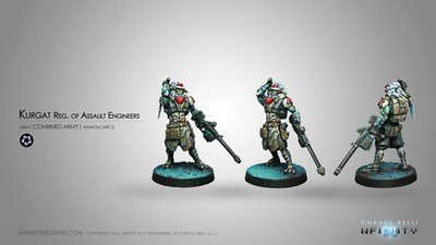 Infinity: Combined Army Kurgat Reg. of Assault Engineers (Mk12, D-Charges)