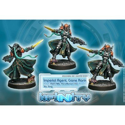Infinity: Yu Jing Imperial Agents, Crane Rank (MULTI Rifle, Monofilament CCW)