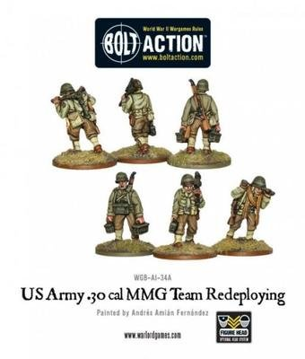 US Army 30 Cal MMG Team Firing