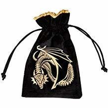 Q Workshop Dragon Dice Bag - Black/Golden Velour