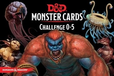 Dungeons & Dragons: Monster Cards Cards - Challenge 0-5