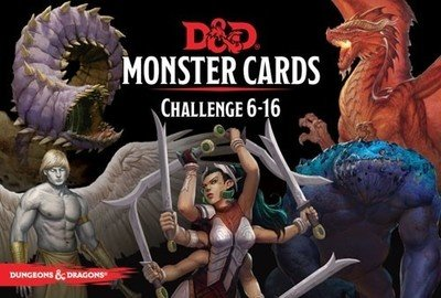Dungeons & Dragons RPG: Monster Cards - Challenge 6-16