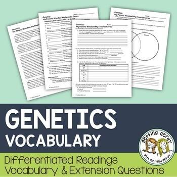 Genetics - Differentiated Vocabulary