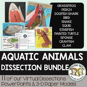 Dissection Models - Aquatic Animals *GROWING* Bundle