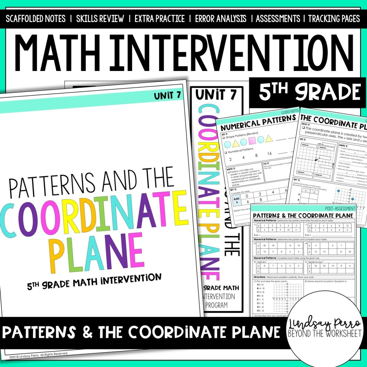 Patterns and The Coordinate Plane Intervention Unit