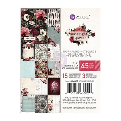 Midnight Garden 3x4 Journaling Cards