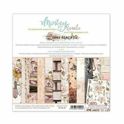 Mintay by Karola - Dear Diary - 6 x 6 Collection Pack