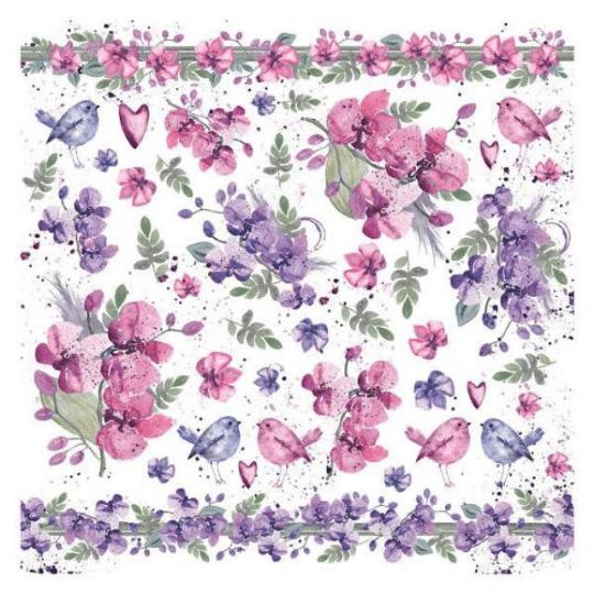 Watercolor Violets - Napkin - Stamperia Rice Paper Napkin
