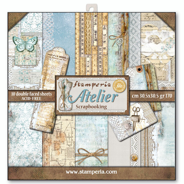 Stamperia Atelier - 12 x 12 Paper Pad
