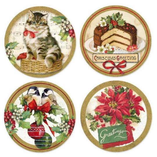 Christmas Vintage Adhesive Paper - Stamperia Adhesives