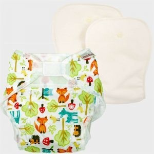 One size diaper - Woodland