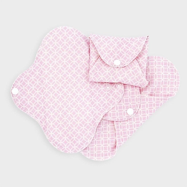 Washable panty liners - pack of 3 - pink