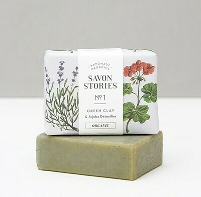 Soap Bar - Green Clay - Face / Body / Shave