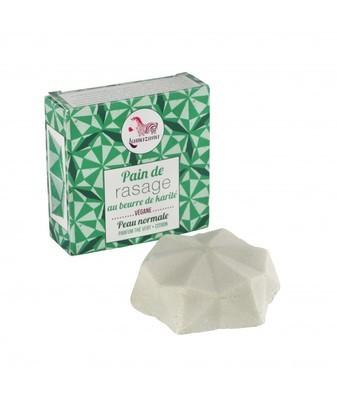 Solid shaving soap block
