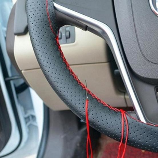 Faux Leather Steering Wheel Cover